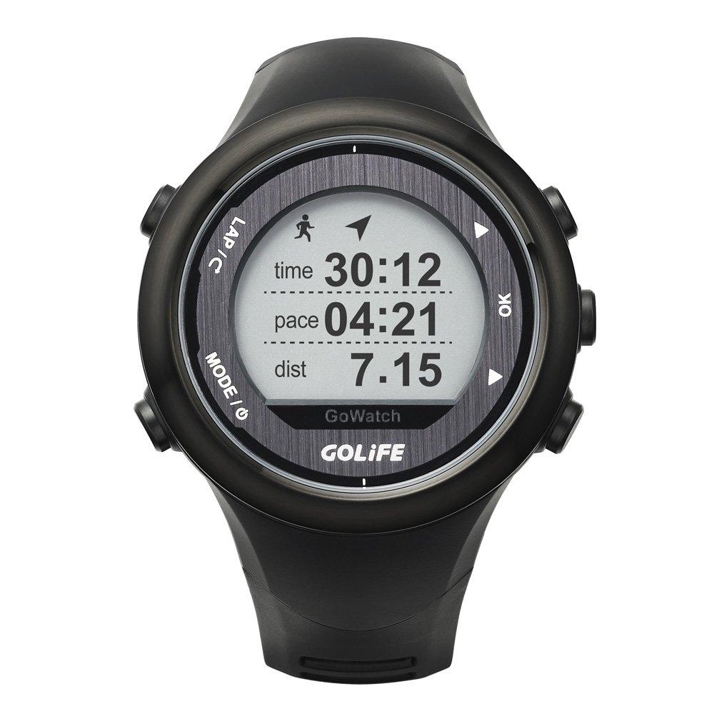 Docooler Intelligente Outdoor GPS Sportuhr GOLiFE GoWatch 820i wiederaufladbare laufen, Radfahren, Schwimmen, Wandern, Triathlon 5ATM wasserdicht