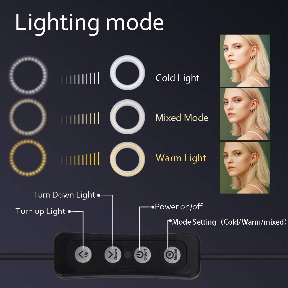 """Zomei Luce ad Anello LED Da 6"""" Con Treppiedi & Supporto Per Cellulare Per Streaming In Diretta/Make-Up, Video Youtube/Fotografia Compatibile Con Iphone E Android"""