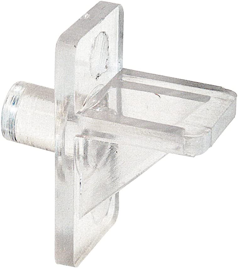 Slide-Co 243409 Plastic Shelf Support Pegs, Clear (12pk) – 5mm Outside Diameter - Easily Replace Missing or Broken Shelf Supports – Serrated Stems for Stronger Grip - Easy to Install: Home Improvement