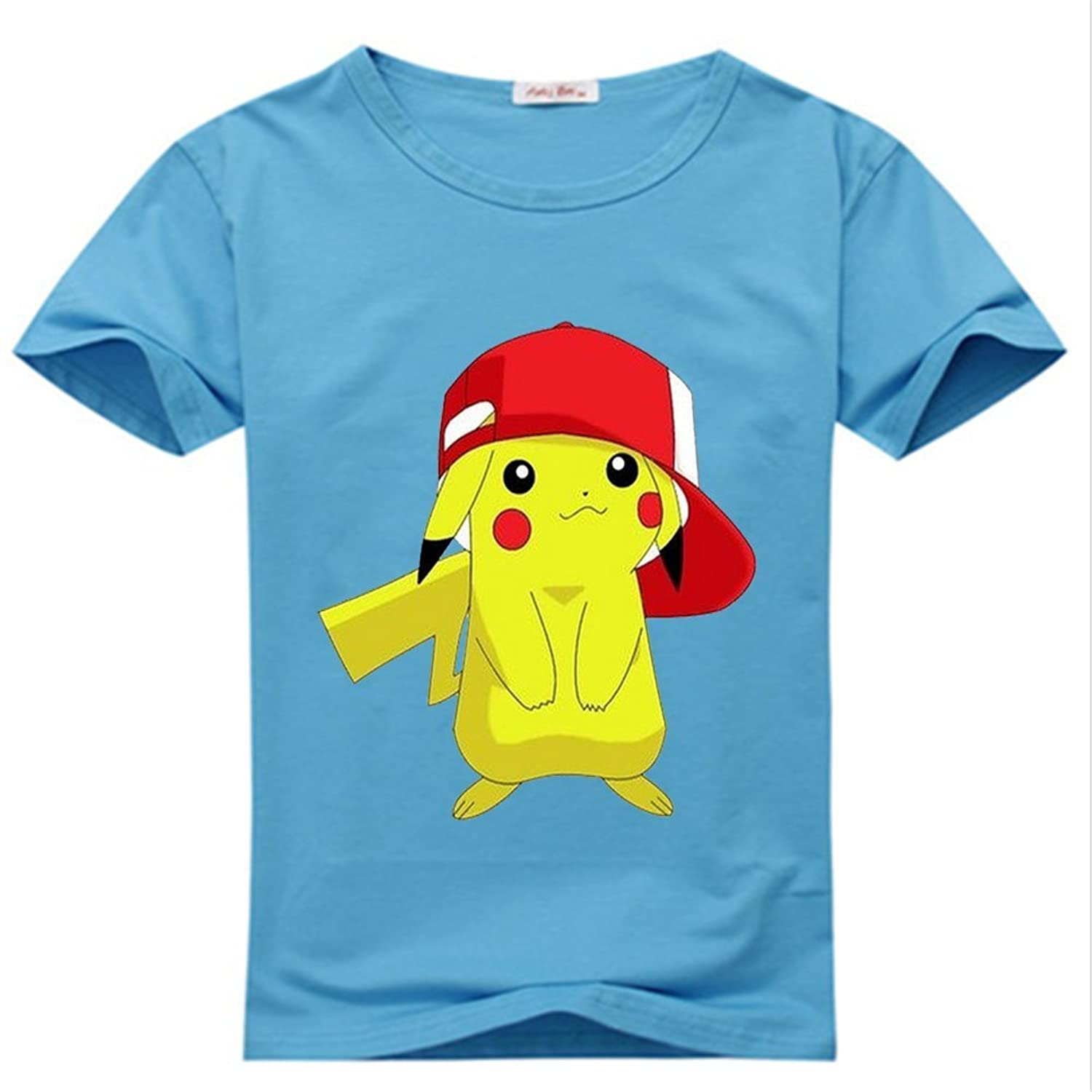 YangshanLin Youth Tee Shirts Funny Pokemon Pikachu Logo Cartoon - Pattern 1