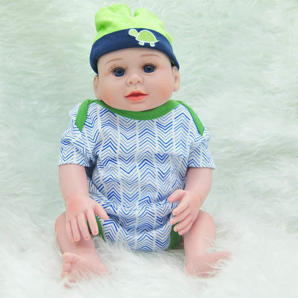 Hongge Reborn Baby Doll,Simulación Silicona bebé Reborn muñeca niño niño niña Regalo de cumpleaños 52cm