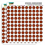 Basketball 1/2' (0.5') Planner Calendar Scrapbooking Crafting Stickers - Opaque