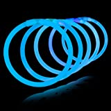 "8"" Lumistick Glowsticks Glow Stick Bracelets BLUE (Tube of 100)"