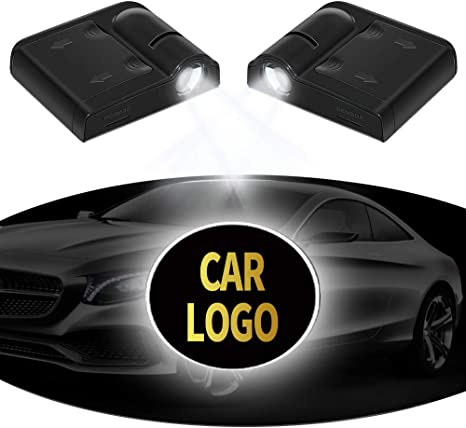 MIVISO Car Door Led Logo Projector Light No Magnet Upgraded Wireless Lamp Welcome Ghost Shadow Light 2 Pcs