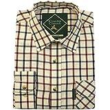 Country Classics Long Sleeved Check Mens Shirt - Ascot-Wine - L