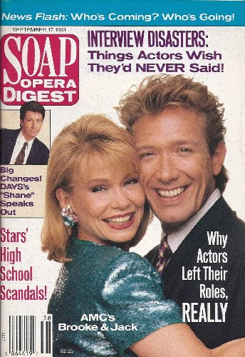 Julia Barr, Walt Willey, All My Children, Paul Michael Valley, Why Actors Really Left Their Shows - September 17, 1991 Soap Opera Digest Magazine