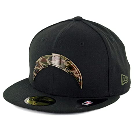 Amazon.com   New Era 5950 Los Angeles Chargers Camo Badge Fitted Hat ... a9f2ab8bf26