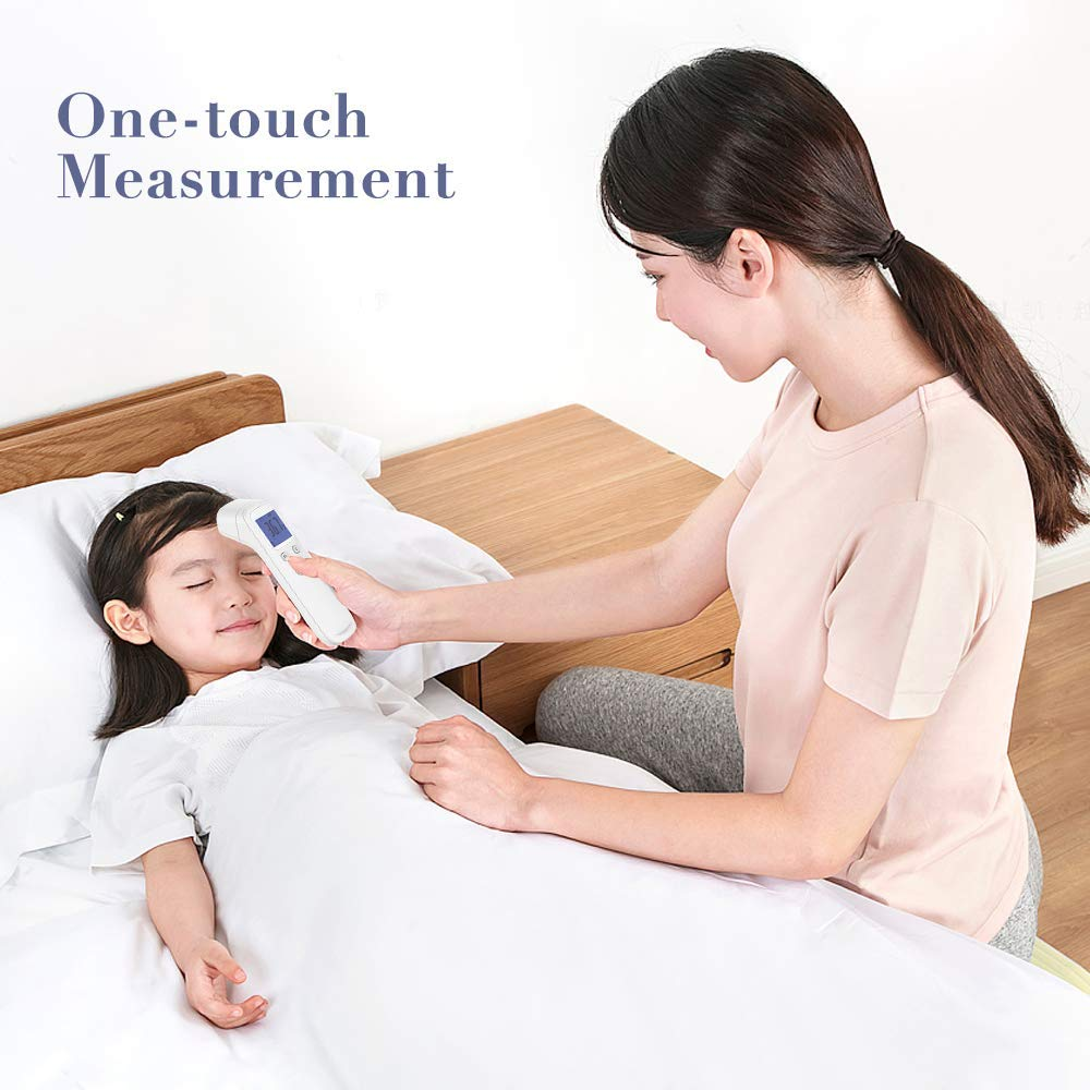 Great for Babies Non-Contact Infrared Digital Thermometer with LCD Display Fever Alarm /& Memory Function Adults Forehead Thermometer