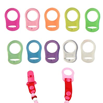 Transparent FENICAL Soft Silicone Baby Pacifier Clips Holders Baby Nipple Rings 10pcs