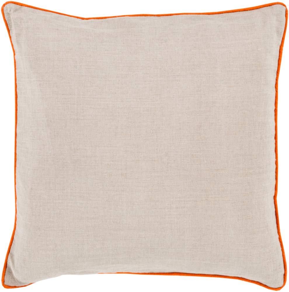 Solid & Border Pillow Cover Only Square 20'' x 20'' WL-067536-S