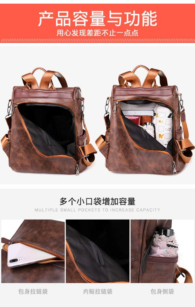 ZLK backpack Weiche Gesicht Pu-Lederrucksackfrauenhandtaschen Arbeiten Reiserucksack Um B07MM9F7Z9 B07MM9F7Z9 B07MM9F7Z9 Daypacks Vielfältiges neues Design 7936db