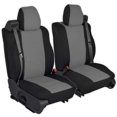 CarsCover Custom Fit 2004-2008 Ford F150 Pickup Truck Neoprene Car Front Seat Covers Gray & Black Sides Driver & Passenger Cover: Automotive