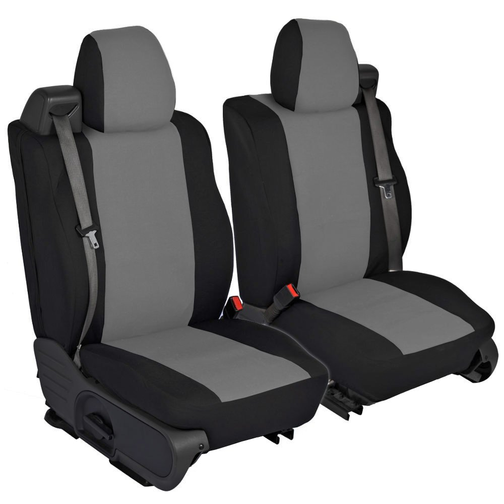 CarsCover Custom Fit 2004-2008 Ford F150 Pickup Truck Neoprene Car Front Seat Covers Gray & Black Sides Driver & Passenger Cover by CarsCover