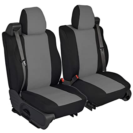 CarsCover Custom Fit 2004 2008 Ford F150 Pickup Truck Neoprene Car Front Seat Covers Gray