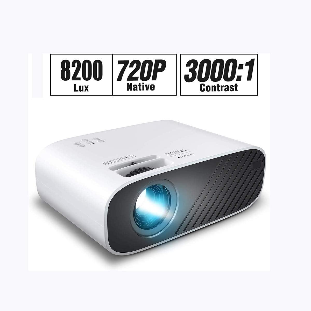 Mini proyector de películas con 8200 Lux Brightness y 50, 000 ...