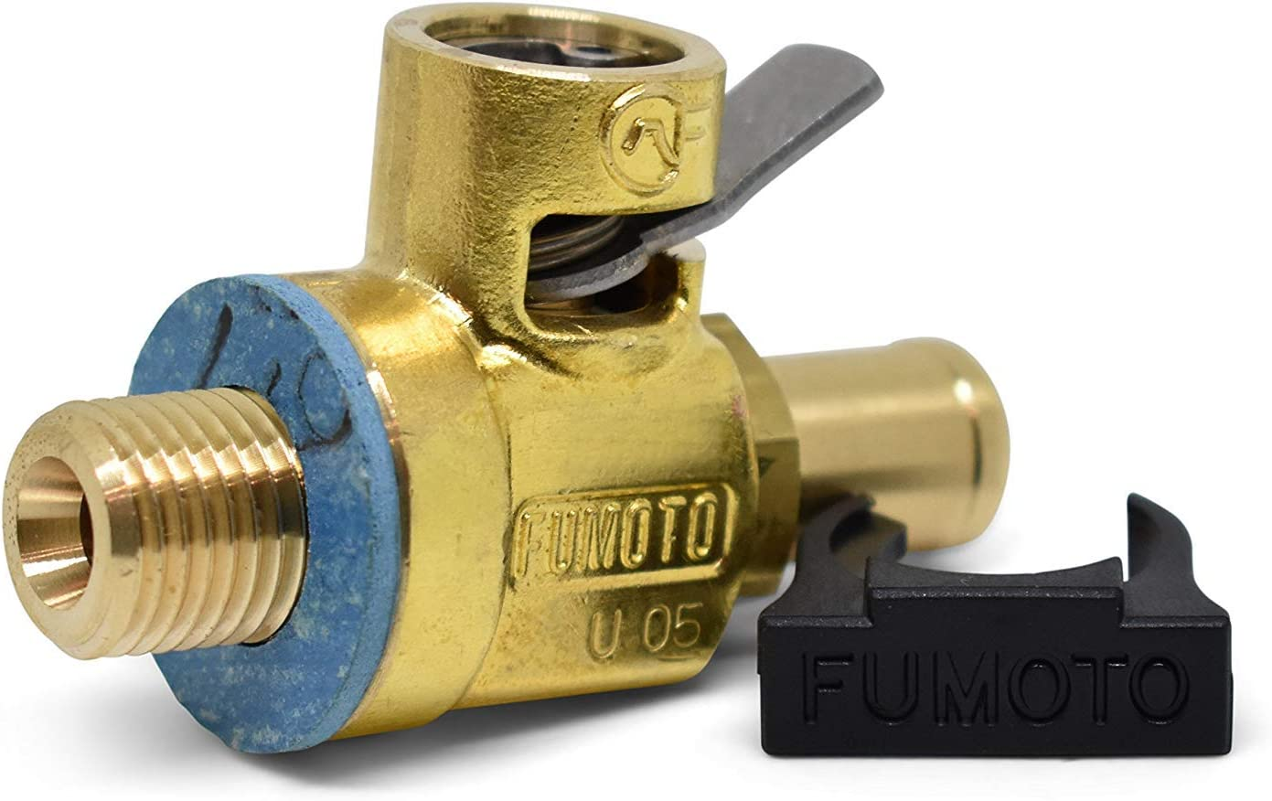 F137N with LC-10 F-Series Large Body FUMOTO Valve with Long Nipple and LC-10 Lever Clip for M12-1.75