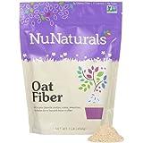 NuNaturals - NuGrains - Oat Fiber - Non-GMO Certified - 1 Pound