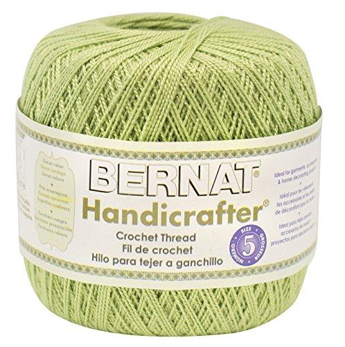 Bernat Handicrafter Crochet Thread, Solid, 3 Ounce, Fresh Fern, Single Ball