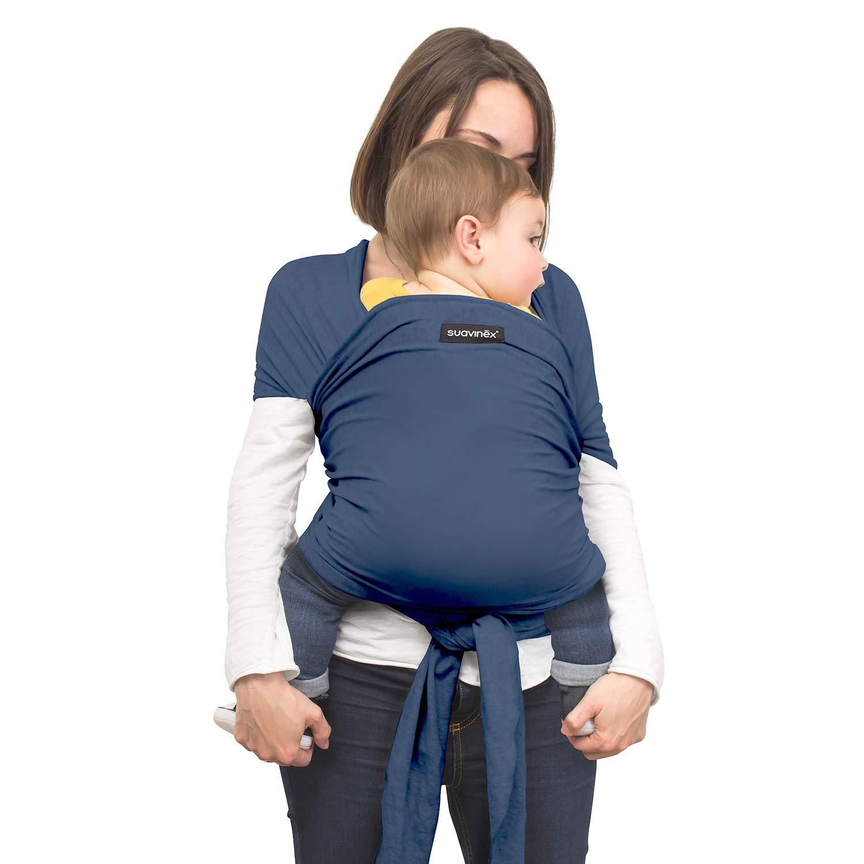 Bolsita de transporte color Azul Camiseta Porteadora de beb/é Fular Portabeb/és reci/én nacidos Babywrap Aplio tama/ño Fular portabeb/és el/ástico Suavinex porteo Seguro y ergon/ómico