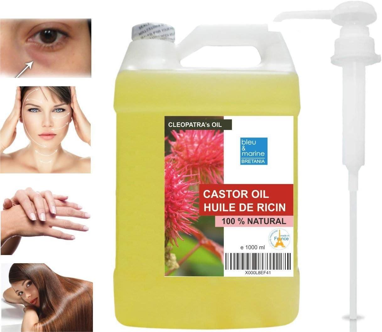 Aceite de Ricino Prensado en frío 1000 ml Con dispensador- Castor ...