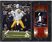 Ben Roethlisberger Pittsburgh Steelers Super Bowl XL Plaque with Replica Ticket - NFL Player Plaques and Colla