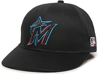 2360ccb13e3 OC Sports Miami Marlins MLB Black 2019 New Logo Hat Cap Adult Men s  Adjustable