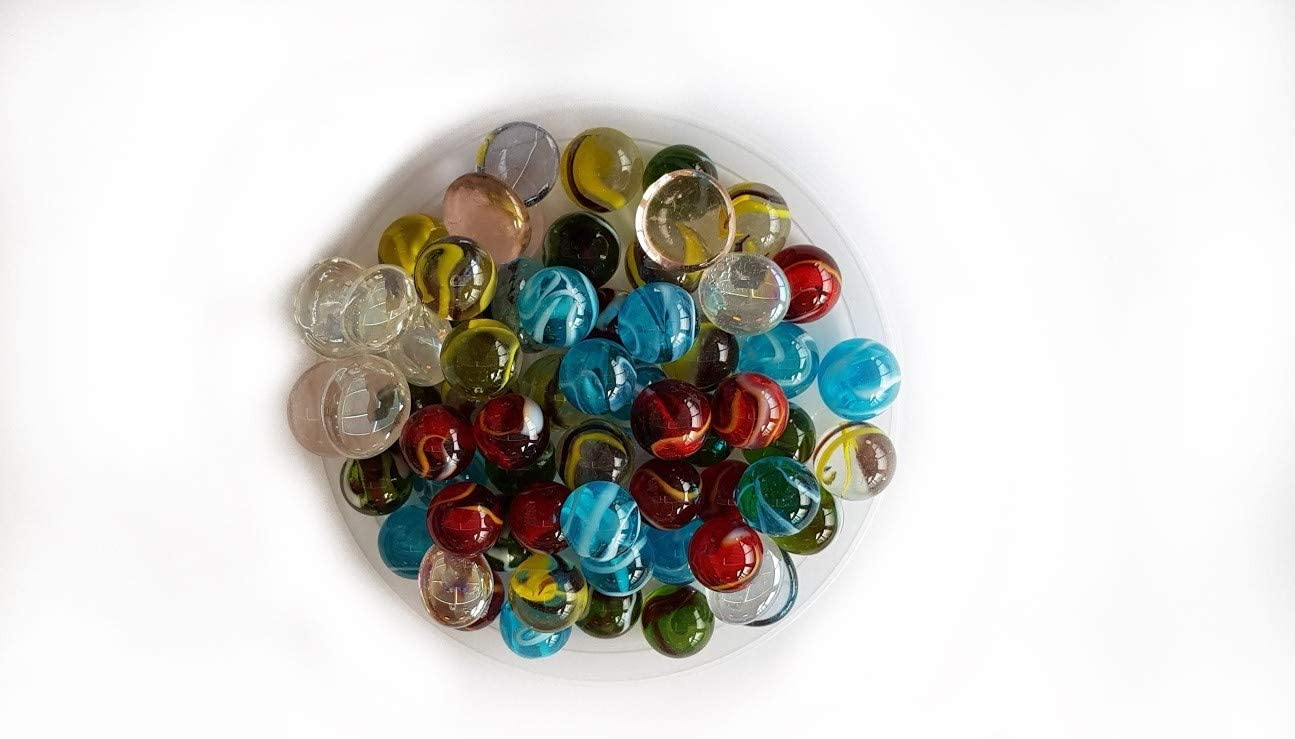 20 Little Marbles Pearl Blue 14 mm Glass Marbles by My GlassMarble MyMarbles