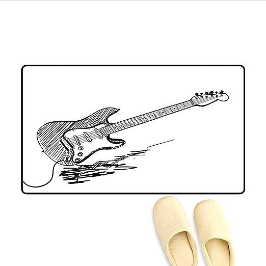 Alfombrillas Estilo Dibujado a Mano Guitarra eléctrica sobre Fondo ...
