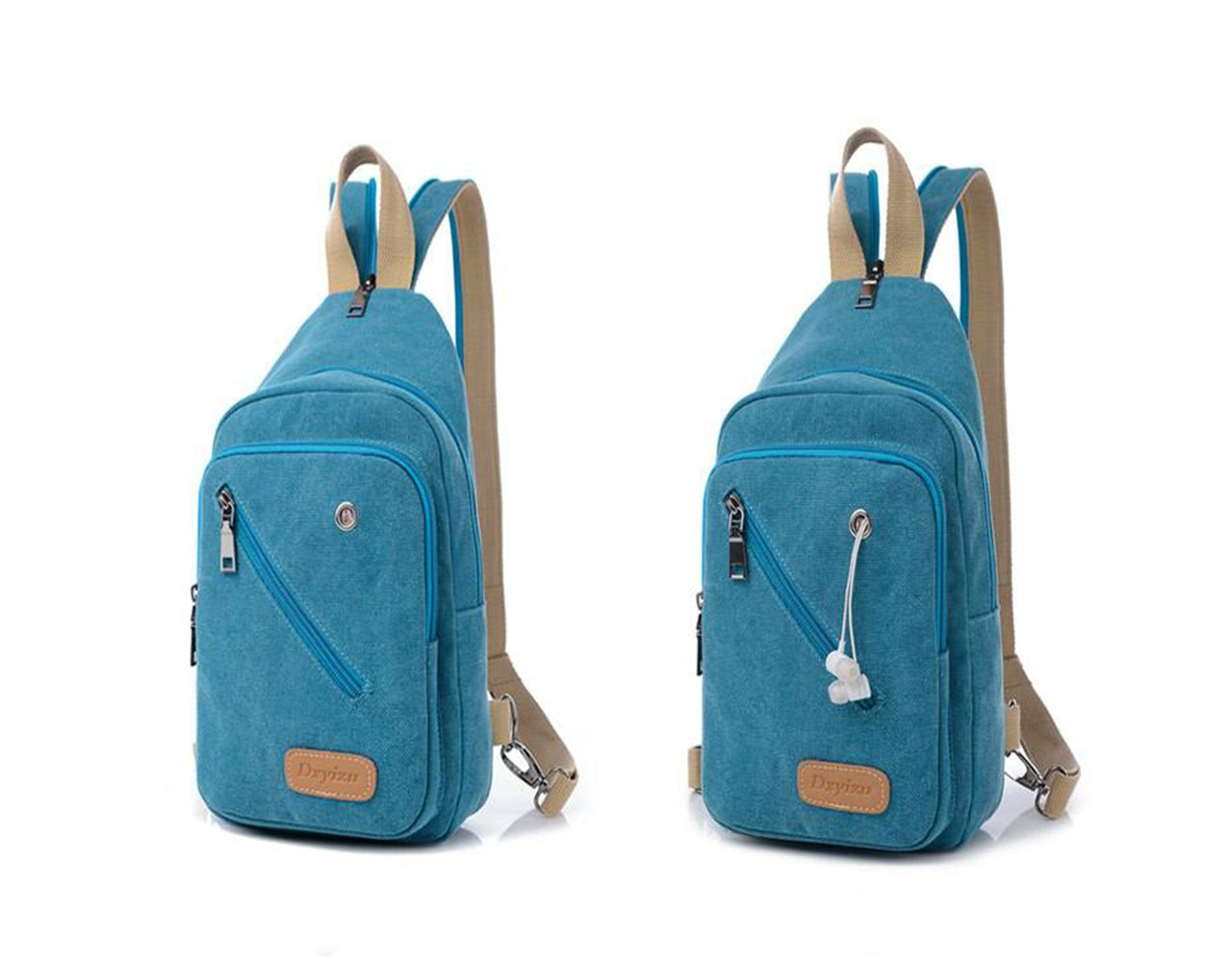 lovely Dxyizu Canvas Chest Pack Crossbody Bag Multifunctional Canvas Small  Backpack Sling Bag Chest Pack c46b03fd83