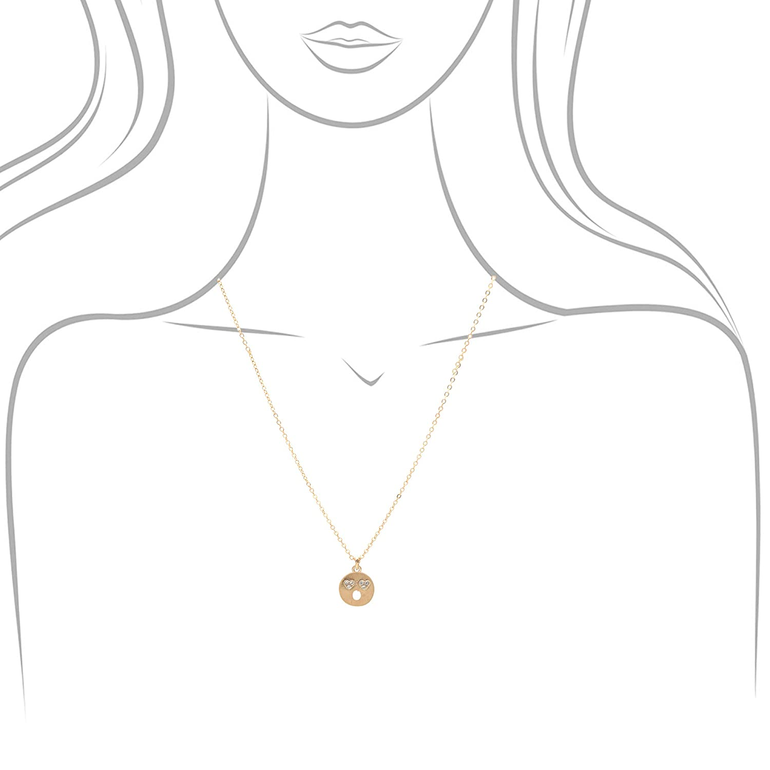 SpinningDaisy Emoji Face Necklace Astonished Face Gold Plated