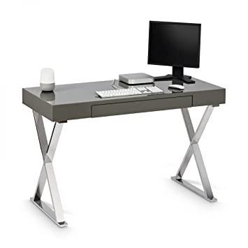 computer tisch galdem schreibtisch computertisch arbeitstisch ba 1 4 rotisch pc grau hochglanz 76 x 120 55 cm jonas poco