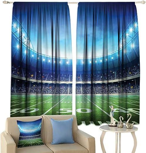 Hualidecor Football Blackout Curtain