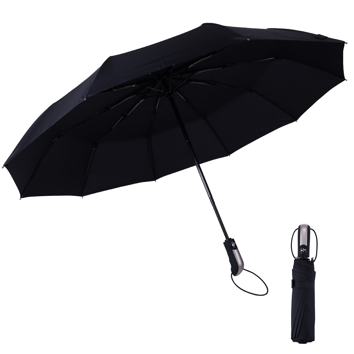 new Q-YEE Travel Foldable Umbrella with Auto-Open and Close Windproof Fast Dry