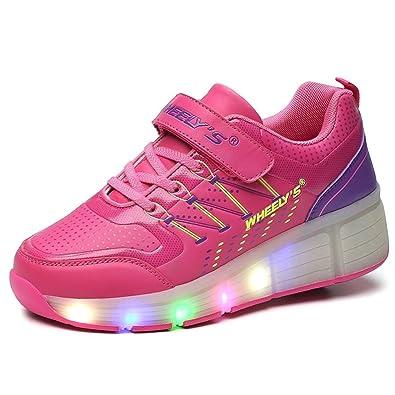 bello e affascinante materiale selezionato ultima moda Scarpe con rotelle automatiche e luci LED per bambini – Rosa – Varie taglie