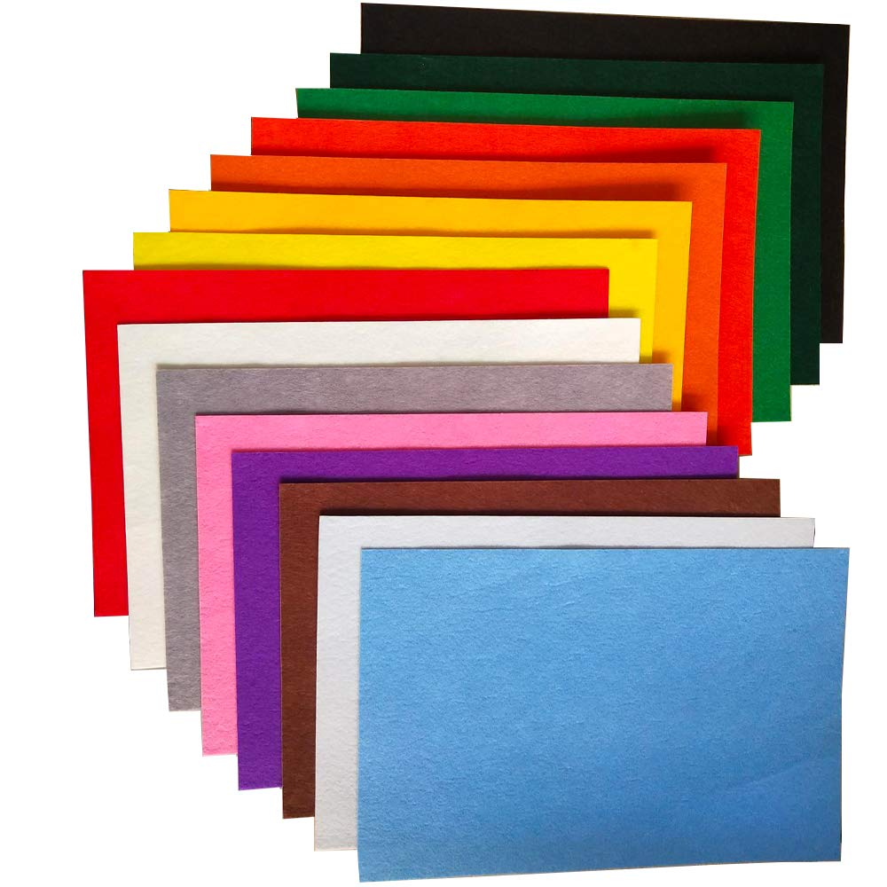 Self Adhesive Sticky Back Acrylic Felt 23cm x 30cm Fabric Material *6 Colours*