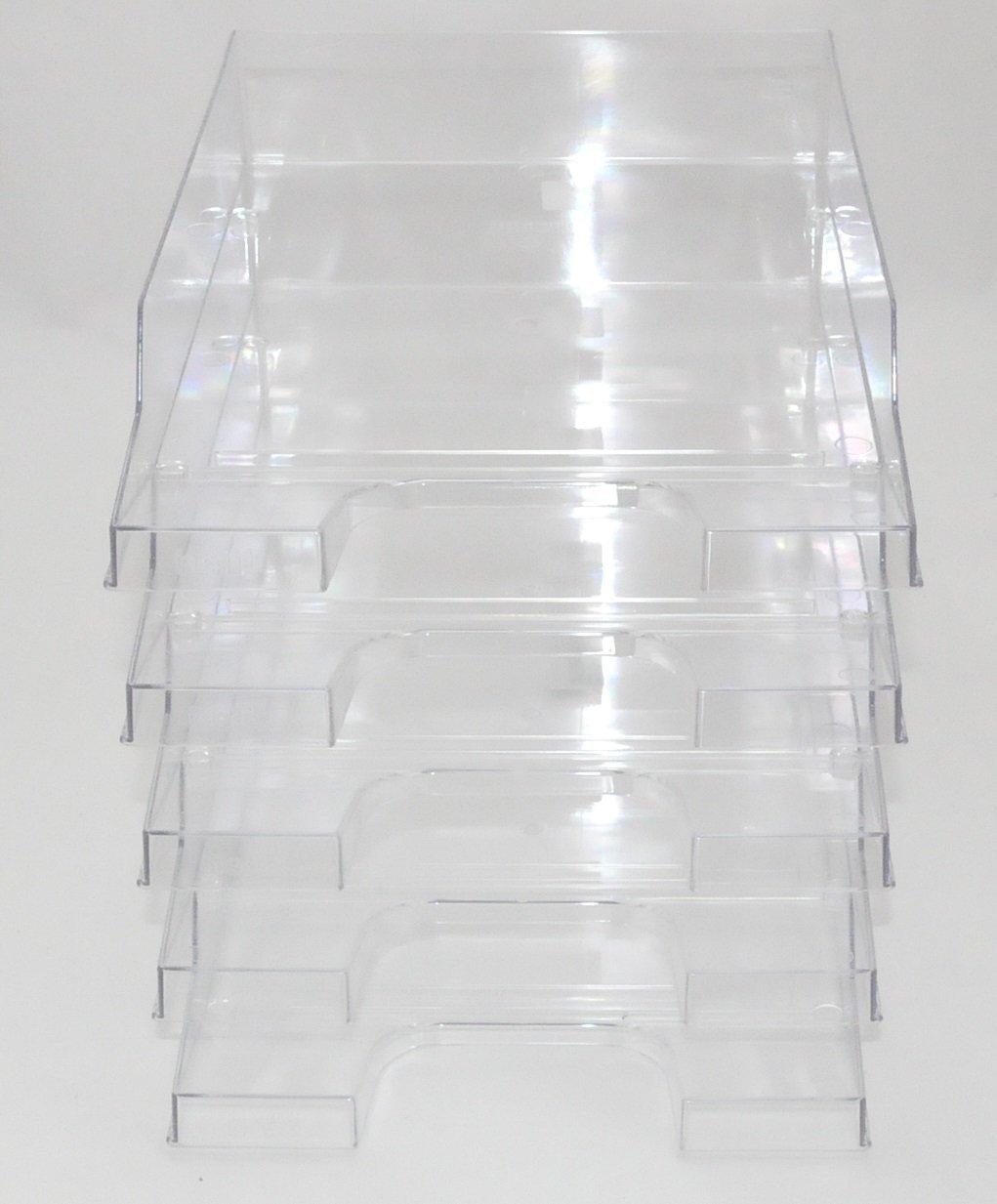 helit Briefablage transparent - 5 Stück