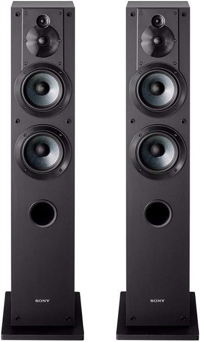 Sony SS-CS3 3-Way 4-Driver Floor-Standing Speaker - Pair (Black)