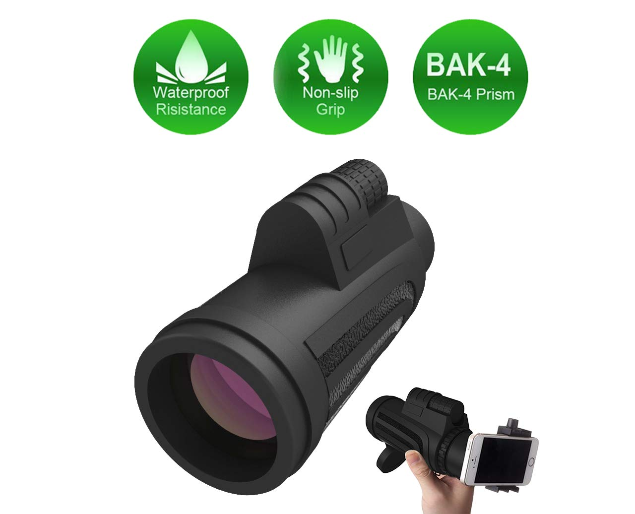 High Power Monocular Pocket Monoculars 10X42 Small Telescope Spotting Scope for Hunting Accessories and Range Finder, for Smartphone Cell Phone Scope, Best Gifts for Men or Dad by ME SO FUNNY