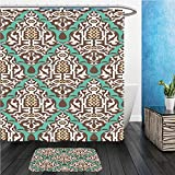 Beshowereb Bath Suit: ShowerCurtian & Doormat arabic floral seamless pattern traditional arabic islamic background mosque decoration element 445450717