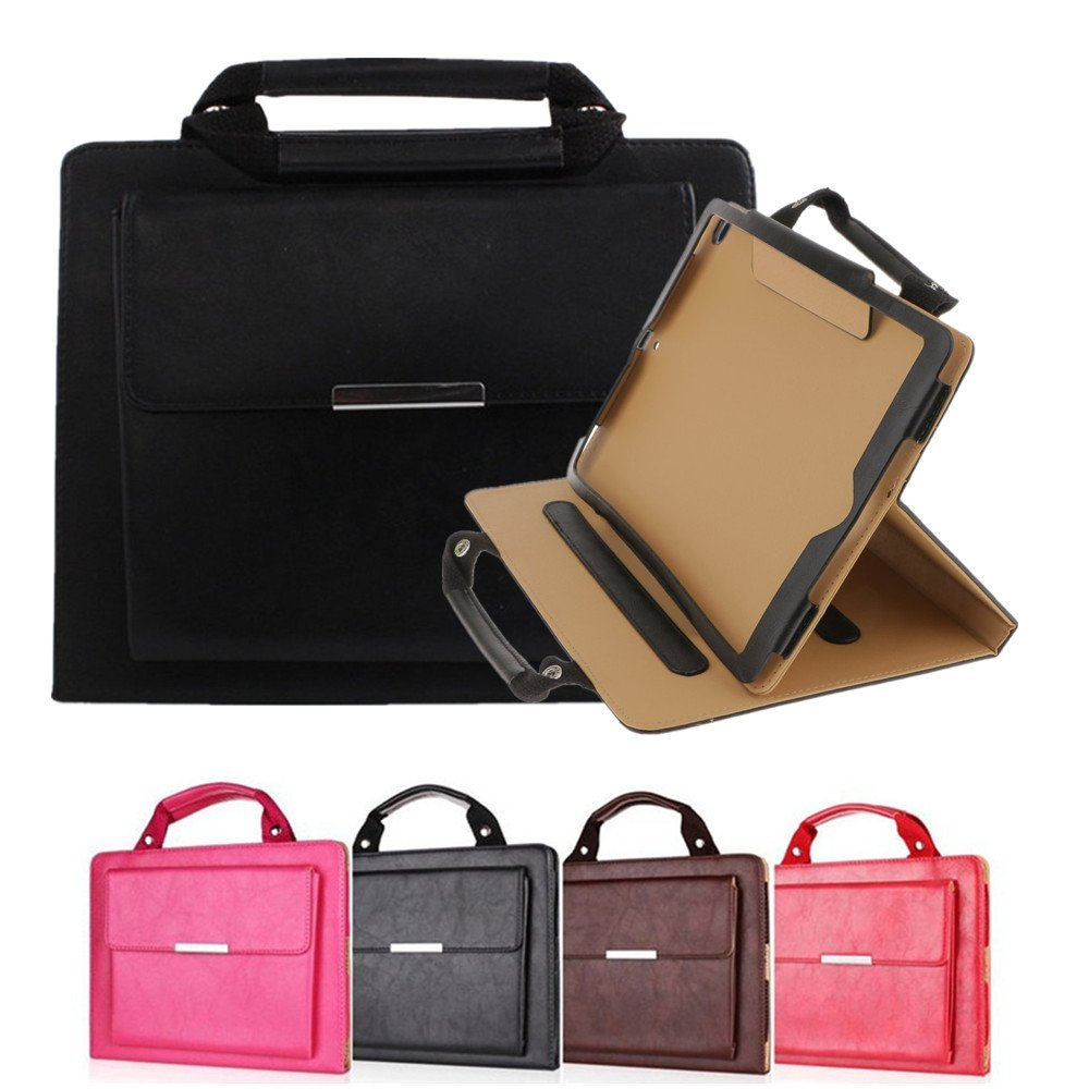 10.5 iPad Pro Case Cover Leather,MeiLiio Business Style Handbag with Flip Folio Stand Protective Cover Handle Pocket Luxury Portable Carrying Case for Apple iPad Pro 10.5 inch (Black)