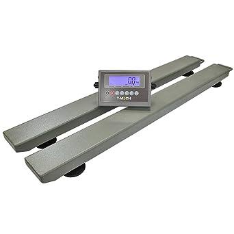 Balanza Industrial Con Vigas 3000kg con Pantalla Digital 120cm x 12cm x 6cm