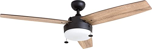 Prominence Home 51018 Statham Modern Farmhouse Ceiling Fan, 52 , Espresso