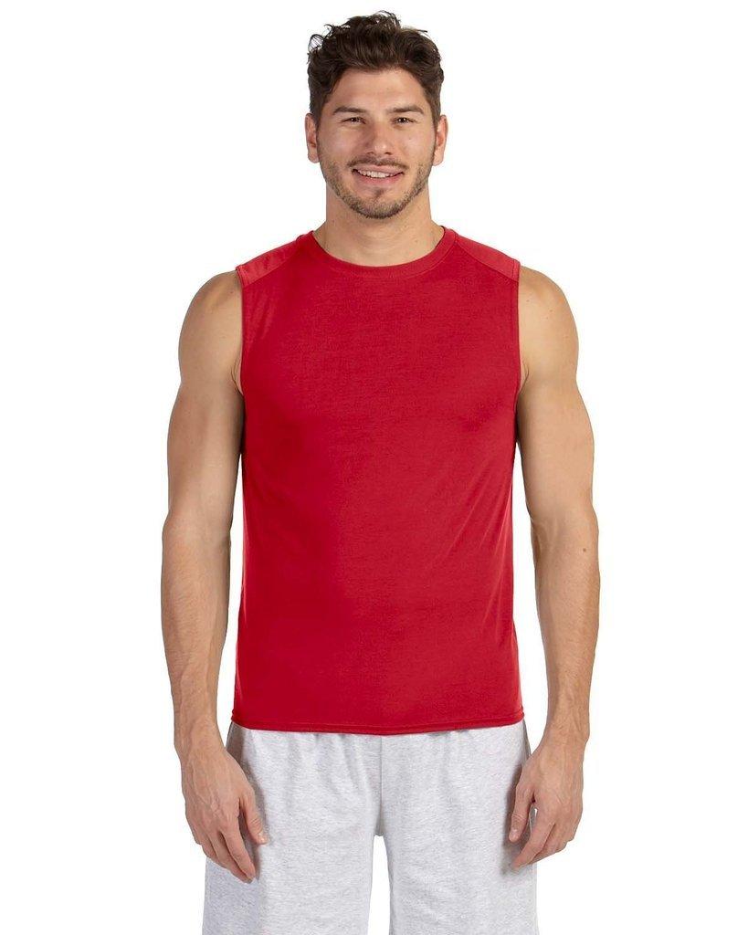 Gildan Men's Double Needle Wicking Jersey T-Shirt 42700