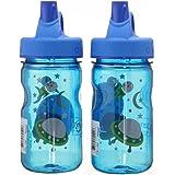NALGENE Tritan Grip-N-Gulp BPA-Free Water Bottle (Space Blue, 2 Count)