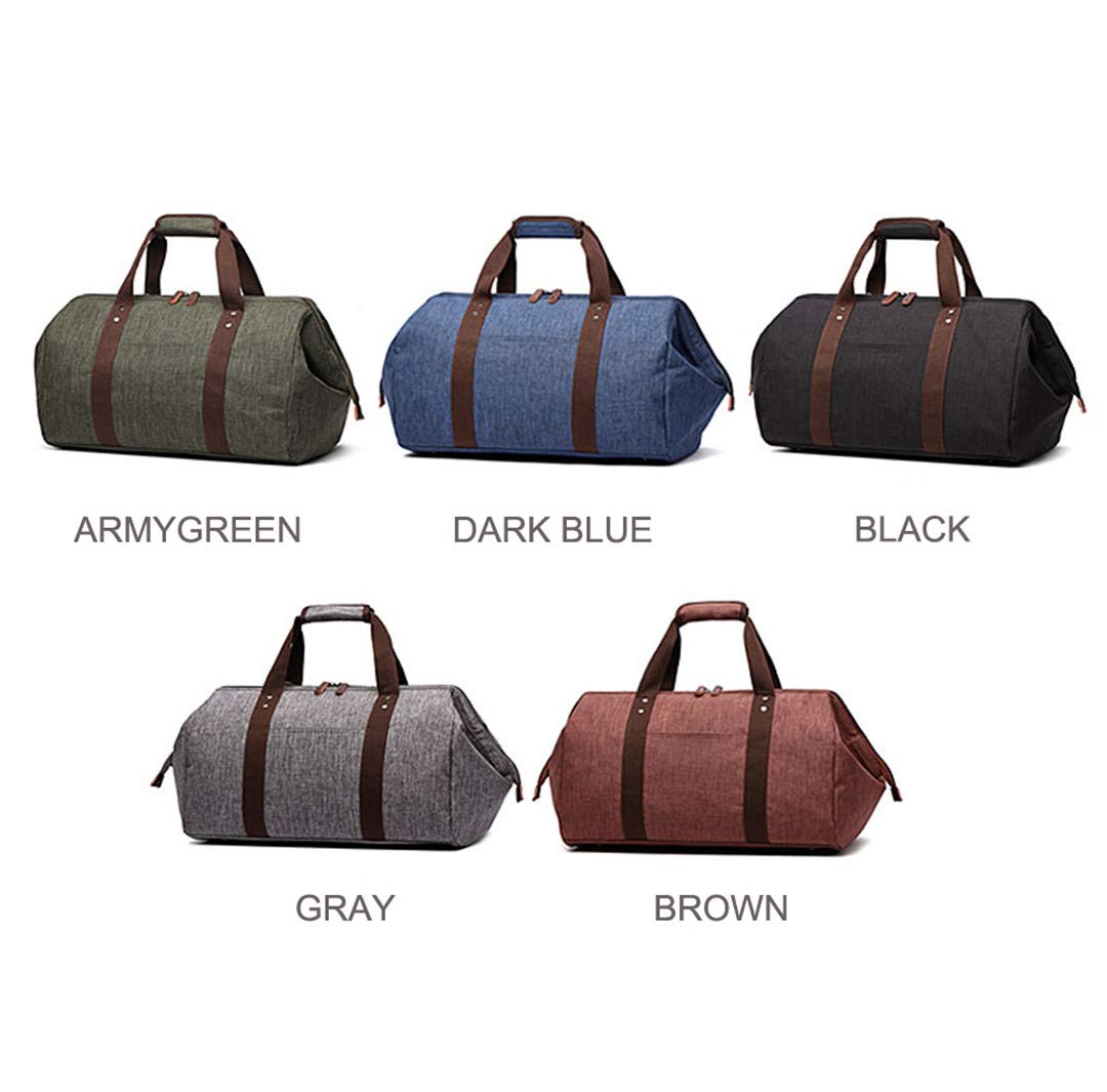 Waterproof Travel Bag Large Capacity Carry On Luggage Bag Business H Bag Big Opening Bags Black