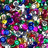 Fireboomoon 10,000pcs BULK CRAFT CUP SEQUINS MIXED COLORS AND SIZES, Sequins and Spangles Craft Supplies
