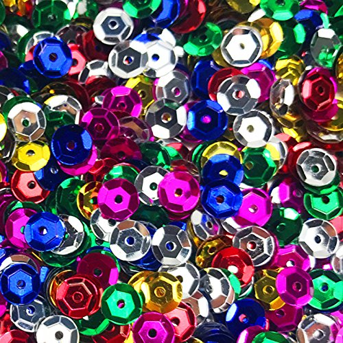 (Fireboomoon 10,000pcs BULK CRAFT CUP SEQUINS MIXED COLORS AND SIZES, Sequins and Spangles Craft Supplies)