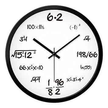 AIZIJI Reloj de Pared de Silencio Dibujo Creativo Relojes de Cuarzo Moderno Dormitorio Art decó idílico,30cm Wall Chart: Amazon.es: Hogar