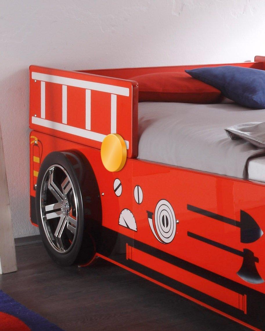Stella Trading Spark Rot, Autobett, Holz, Rot, Spark 225 x 108 x 91 cm f8bae2