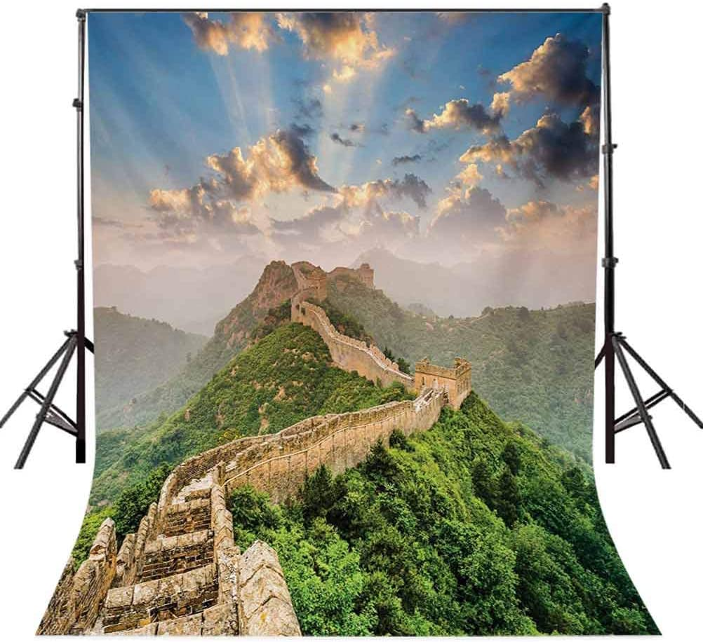 Oriental Medieval Blockade on High Lands Old Wonders the Past Picture Background for Child Baby Shower Photo Vinyl Studio Prop Photobooth Photoshoot Great Wall of China 6.5x10 FT Photography Backdrop
